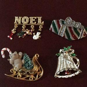Jewelry - Vintage Christmas Pins